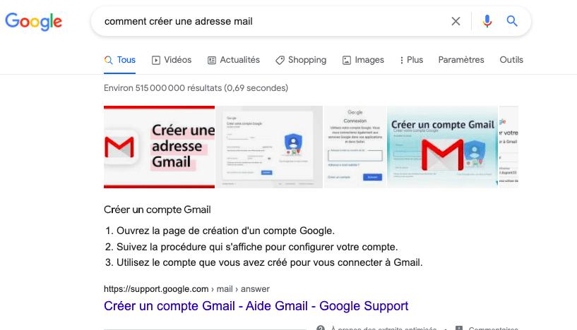 Position zéro mail